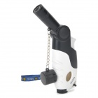 FS56 Head Rotatable Butane Jet Lighter - White + Black