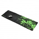 E-BLUE Cloth + Rubber Game Mouse Pad - Black + Green (XL-Size)