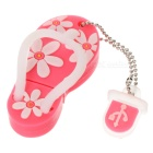 Nette Slipper Style High Speed ​​USB 2.0 Flash Drive - Pink (8GB)