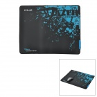 E-BLUE Cloth + Rubber Game Mouse Pad - Black + Blue (L-Size)