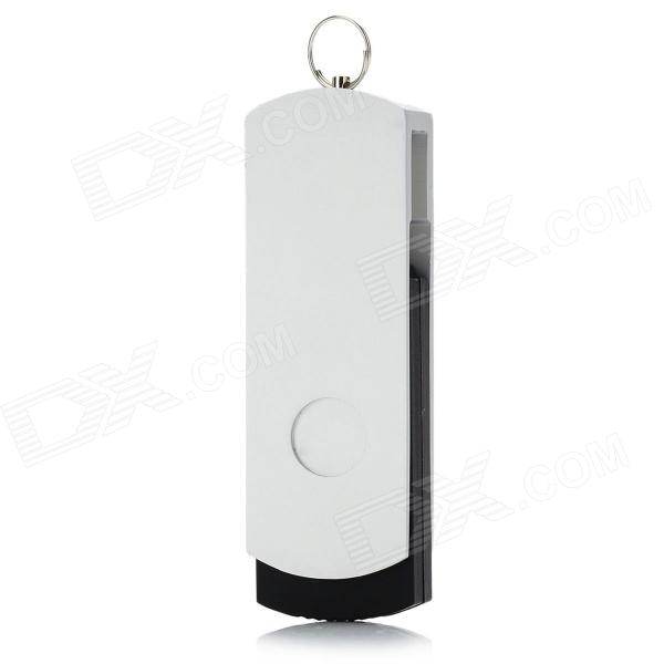 Rotating High Speed USB 2.0 Flash Drive - Silver + White (8GB)