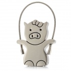 Cute Piglet Style High Speed USB 2.0 Flash Drive - Silver (4GB)