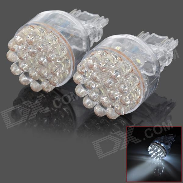 D13010808X 3157 2.6W 168lm 24-LED White Light Car Brake Lamps (2 PCS) - DXLED Wedget Bulbs<br>Model D13010808X Quantity 2 piece(s) Casing Color Translucent Material Plastic housing Emitter Type LED Chip Type N/A Total Emitters 24 Light Color White Rated Voltage 12V Power 2.6 W Luminous Flux 168 lm Color Temperature 6000 K Connector Type 3157 Application Brake light Other Features No need to change your original electric circuit directly replace it; Fast response using life up to 30000~50000 hours; Low power consumption and high brightness. Packing List 2 x Brake lights<br>