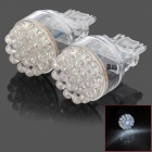 D13010815X 3157 2W 118lm 19-LED White Light Car Brake Lamps (2 PCS)