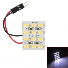 T10 + Festoon 3.84W 312lm 12-SMD 5630 LED White Car Dome Light