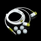 SE08 3.5mm Plug Aluminum Alloy Stereo In-Ear Earphone - Green + White (125cm-Cable)