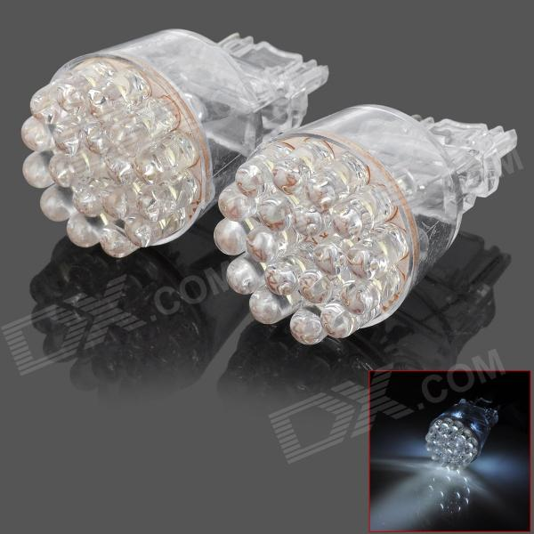 D13010807X 3156 2.6W 168lm 24-LED White Car Steering Lamps (2 PCS) - DXLED Wedget Bulbs<br>Model D13010807X Quantity 2 piece(s) Casing Color Translucent Material Plastic housing Emitter Type LED Chip Type N/A Total Emitters 24 Light Color White Rated Voltage 12V Power 2.6 W Luminous Flux 168 lm Color Temperature 6000 K Connector Type 3156 Application Steering light Other Features No need to change your original electric circuit directly replace it; Fast response life up to 30000~50000 hours; Low power consumption and high brightness. Packing List 2 x Car steering lamps<br>