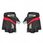 Outdoor Cycling Half Finger Gloves - Black + Grey (Pair / Size-XL)