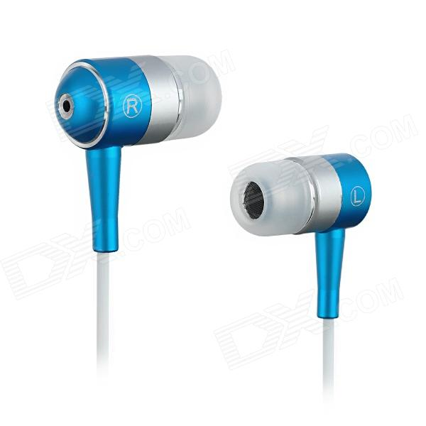 SE08 3.5mm Plug Aluminum Alloy Stereo In-Ear Earphone - Blue + White + Silver (125cm-Cable) свитшот унисекс с полной запечаткой printio пламенный закат