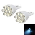 D13010809X T10 0.3W 90lm 7-LED White Light Car Breite Lampen (2 PCS)