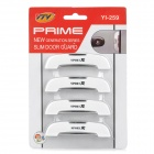 YI-259 Car Door Collision-Proof Decoration Stickers Set - White (4 PCS)