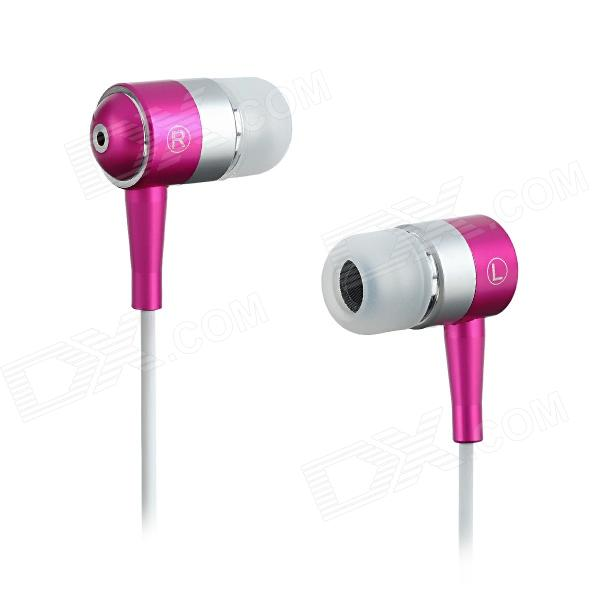 SE08 3.5mm Plug In-Ear Stereo Earphone - Purple + White (125cm-Cable)