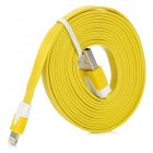 USB to 8 Pin Lightning Flat Charging + Data Cable for Iphone 5 / Ipad MINI - Yellow (200cm)