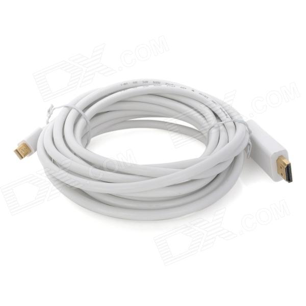 Mini port d'affichage vers le câble d'adaptation HMDI pour Macbook Pro / Macbook Air - Blanc (4.5m)
