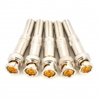 BNC-A Brass RF Coaxial Connector Adapter - Silver (5PCS)