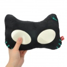 Cool ET Cat Style Doll Car Seat Head Neck Rest Cushion Pillow w/ Glow-in-the-Dark Eyes - Black