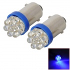 D13010814X BA9S 0.3W 90lm 460nm 7-LED Blue Light Car Width Lamps (2 PCS)