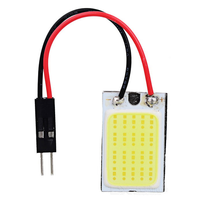 T10 + 28mm~41mm Festoon 1.2W 100~110lm Epistar 18-COB LED White Car Reading Lamp t10 32mm 42mm festoon 3 6w 124lm epistar 36 cob led white car reading light dc 12 24v