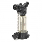 Dower Windproof Butane Jet Lighter - Black + Transparent