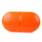 Portable 6-Compartment Medicine Pill Storage Box - Orange