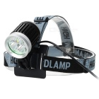 YP-3054 3 x Cree XM-L T6 2400lm 4-Mode White Bicycle Headlamp - Black + Silver (4 x 18650)