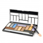 12-in-1 Professional Makeup Cosmetic Eyeshadow w/ Mirror - Multicolored