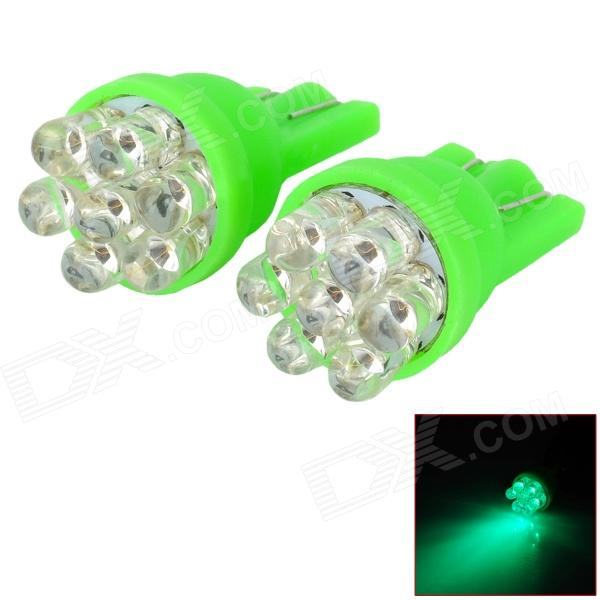 D13010811X T10 0.3W 90lm 520nm 7-LED Green Light Car Width Lamps (2 PCS) ly258 t10 1w 90lm led pink light car width lamps 2 pcs