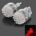 D13010816X 3156 2W 118lm 650nm 19-LED Red Car Steering Lights (2 PCS)