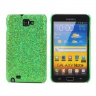 Glitter Bling Skin Protective Plastic Back Case for Samsung i9220 - Green