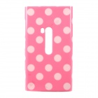 Polka Dots Pattern Protective TPU Back Case for Nokia 920 - Pink + White