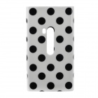 Polka Dots Pattern Protective TPU Back Case for Nokia 920 - Black + White