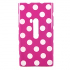 Polka Dots Pattern Protective TPU Back Case for Nokia 920 - Purple + White