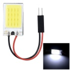 T10 + 28mm~41mm Festoon 1.3W 110~123lm Epistar 21-COB LED White Car Reading Light