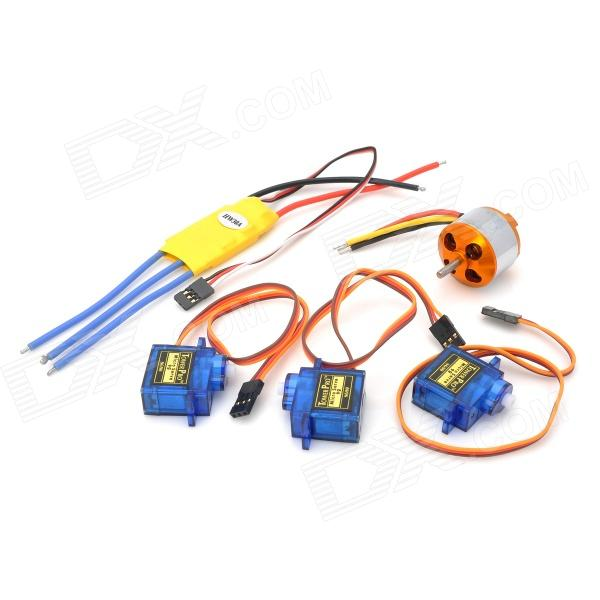 5-in-1 30A Electronic Motor Speed Controller w/ 2700KV Motor Set for Fixed Wing R/C Aircraft aircraft electrical and electronic systems