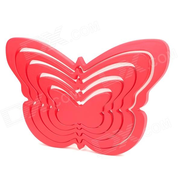 Fashion Creative Butterfly Style Home Decoration Wall Sticker - Red