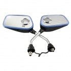 Motorcycle Rear-View Mirror MP3 Player Speaker w/ Blue LED / FM / SD / Alarm Remote Controller