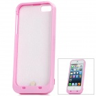 Rechargeable 2000mAh USB External Battery Case for iPhone 5 - Pink + White