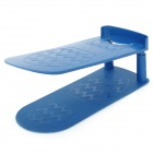 Adjustable Double Layers Plastic Shoe Rack - Blue
