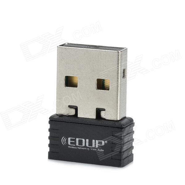 EDUP EP-8531 Mini USB 2.0 150Mbps 802.11 b/g/n Wi-Fi Wireless Network Nano Adapter - Black