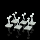 CC936 Cable / Wire / Cord Fixed Twisters Holders Organizers - Light Ivory (6 PCS)