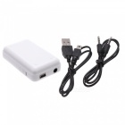 Universal Rechargeable 3.5mm Jack Wireless Bluetooth v2.0 Music Receiver for Iphone / Ipad - White