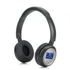 "XF-328 Fashion 1.3"" LCD Stereo Headphone MP3 Player w/ TF Card Slot / FM / USB - Black + Silver"
