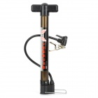 Portable Steel + Plastic Bicycle Bike Tire Air Pump - Black + Brown