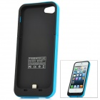 Rechargeable USB 2000mAh External Battery Case for iPhone 5 - Blue + Black