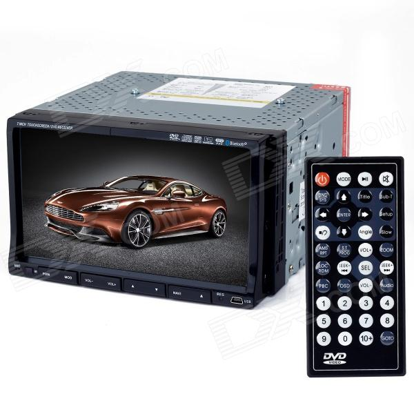 "7.0"" Touch Screen Car DVD Media Player w/ Bluetooth / GPS / TV / FM / Ipod for GM - Black"