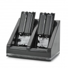 USB Dual Charger Dock Stand + 2 x 2800mAh Battery Packs Set for Nintendo Wii - Black