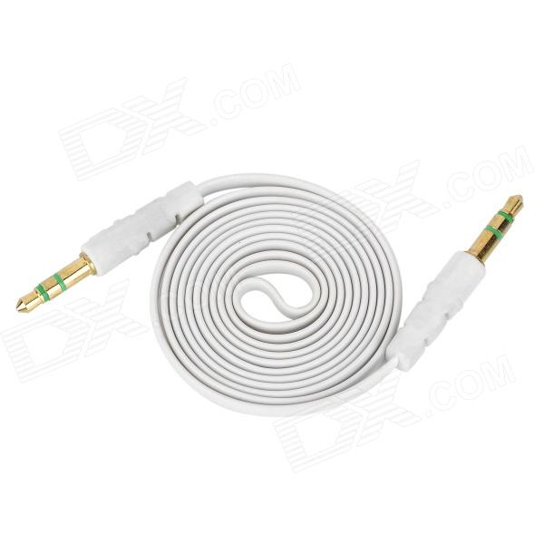 3.5mm Male to Male Audio Connection Flat Cable - White (1m)