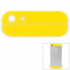Ersatz Top + Bottom Glass Back for iPhone 5 Cover - Gelb