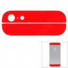Ersatz Top + Bottom Glass Back for iPhone 5 Cover - Bright Red