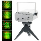 Six Patterns 50mW Green + 100mW Red Laser Stage Lighting Projector with Tripod - Silver